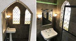 Hop on Platform 9 ¾ for a Harry Potter inspired bathroom