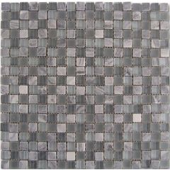 Dune Mosaico Grey-Glass Mosaic 29.3 x 29.3cm