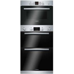 Bosch Series 6 Double Oven & 45cm Compact Microwave Pack - B1ZGB01943