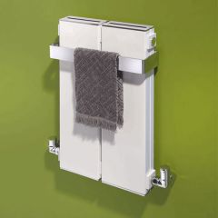 Bisque Blok Towel Radiator 590mm