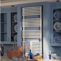 Bisque Bow Fronted Towel Radiator
