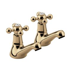 Bristan Regency Basin Taps (Pair) Gold