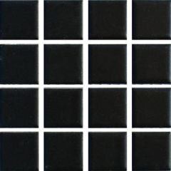 Ceramic Pool Gloss Black Mosaic Tile