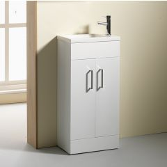 Eden 40 2-Door cloakroom Base Unit & Basin