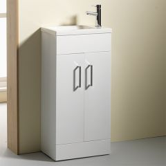 Eden 2 Door Slimline Base Unit & Basin (Eden 50 pictured)