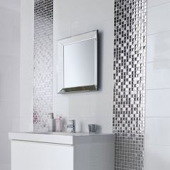 Flat White Ceramic Gloss Wall Tile 20 x 25cm