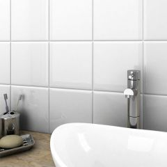 Flat White Gloss Ceramic Wall Tile