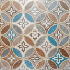 Floral Cross Floor Tile 45 x 45cm