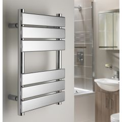 Gemini Flat Chrome Towel Rail