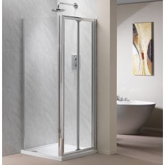 Genesis Bifold Shower Door (shown with side panel)
