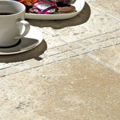 IS Lydia Antique Tumbled Travertine 10 x 10cm