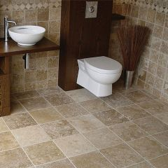 IS Siva Noce Tumbled Travertine 10 x 10cm