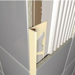 Jasmine Plastic Square Edge Tile Trim 2.5m