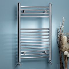 K Flat Chrome Heated Towel Rail