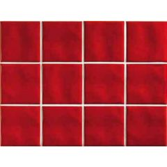 Lacca Rosso Ceramic Wall Tile10 x 10cm