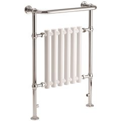 Leo Curved White Towel Rail