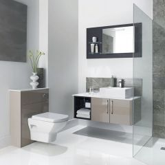 Mereway Adriatic Cappuccino Gloss Combination Bathroom