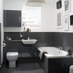 Mereway Adriatic Graphite Gloss Fitted Bathroom