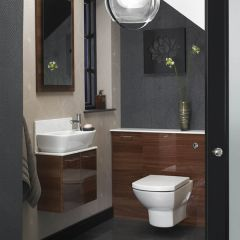 Mereway Adriatic Walnut Gloss Combination Bathroom