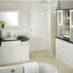Mereway Sargasso White Satin Fitted Bathroom