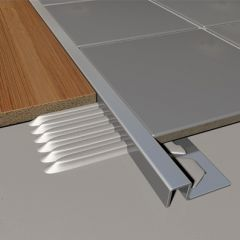 Metal Wide Bridge Stainless Steel Profile Trim 2.5m