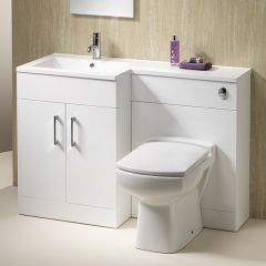 Monica 120 1-Piece Basin & Unit with WC Unit