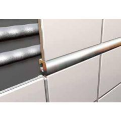 Narrow Listello Tile Trim Chrome 2.5m