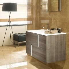 Porcelanosa Travat Camel Wall Mounted Wash Basin Unit