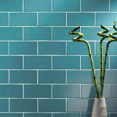 Prismatics PRG44 Gloss Ocean Blue Field Tile 20 x 10cm