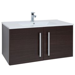 Purity Brown 900mm Wall Mounted Door Unit With Basin