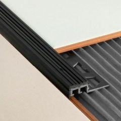 PVC Step Tread Profile Black 2.5m