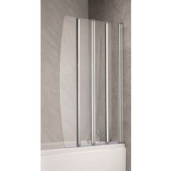 QX 4 Fold Bath Screen 1400 x 850mm