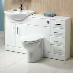 Richmond 130 WC Unit, Basin & Drawer Unit
