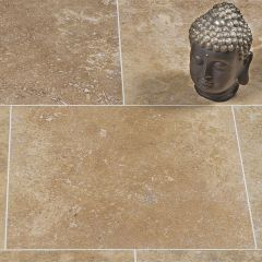 IS Siva Noce Honed & Filled Travertine 40.6 x 40.6cm