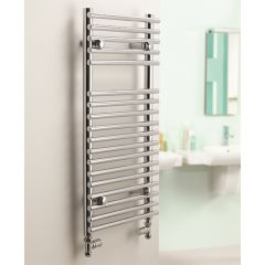 Sagittarius Flat Chrome Towel Rail