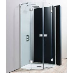 Simpsons Design Semi-Frameless Quadrant with Hinged Double Doors
