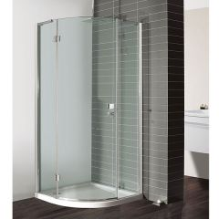 Simpsons Design Semi-Frameless Quadrant with Hinged Single Door