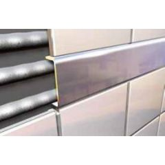 Polished Silver Wide Flat Listello Tile Trim 2.5m