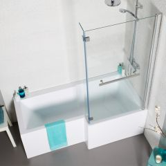 Tetris Square Shaped Shower Bath Package - right hand