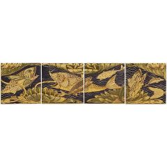 V&A Fish Panel Set 4 Decor 15.2 x 15.2cm