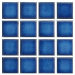 Ceramic Pool Gloss Baltic Blue Mosaic Ceramic Pool Tile