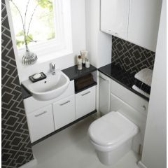Mereway Pacific White Gloss Fitted Bathroom