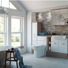 Mereway Pacific White Satin Fitted Bathroom